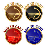 Add to cart - set of web buttons royalty free illustration