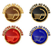 Ajouter au panier - set of french web buttons Royalty Free Stock Photo