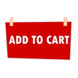 Add to Cart Sign - illustration Stock Images