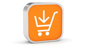 Add to cart sign Royalty Free Stock Photography
