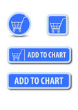 Add to chart web button Stock Image