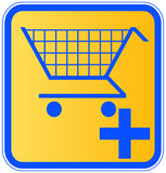 Add to shopping cart Royalty Free Stock Image