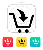 Add to shopping cart icon. Vector illustration Royalty Free Stock Photography