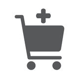 Add to shopping chart vector icon. Online shop sign. Web store purchase symbol Royalty Free Stock Photography