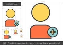 Add user line icon. Stock Photo