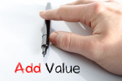 Add value text concept Stock Photography