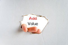 Add value text concept Royalty Free Stock Photo