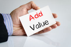 Add value text concept Royalty Free Stock Images
