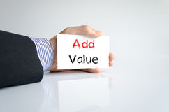 Add value text concept Royalty Free Stock Image