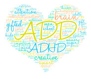 ADD Word Cloud Royalty Free Stock Images