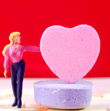 Add Your Message to the Candy Heart Royalty Free Stock Photos