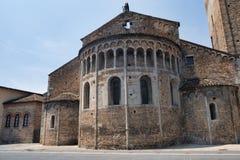 ` Adda Cremona de Rivolta d, Itália: San Sigismondo, igreja medieval Fotos de Stock