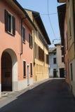 ` Adda Cremona, Italia de Rivolta d: calle vieja Imagenes de archivo