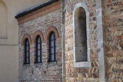 ` Adda Cremona, Italia de Rivolta d: San Sigismondo, iglesia medieval Foto de archivo libre de regalías