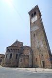 ` Adda Cremona, Italia de Rivolta d: San Sigismondo, iglesia medieval foto de archivo