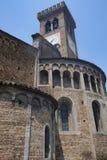 ` Adda Cremona, Italien Rivolta d: San Sigismondo, mittelalterliche Kirche Lizenzfreies Stockfoto