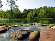Adda-Fluss, ein perfekter Wellnesstourismus Stockbilder