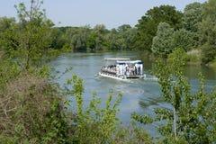 Adda river. Pizzighettone Cr,Italy,  the Adda river Stock Photo