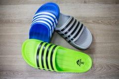 ADDA Shoe, Product of thailand. Chiangmai, Thailand - April 28 2019: ADDA Shoe, Product of thailand by adda footware Company athletic background casual clothing stock photos