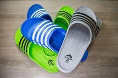 ADDA Shoe, Product of thailand. Chiangmai, Thailand - April 28 2019: ADDA Shoe, Product of thailand by adda footware Company athletic background casual clothing royalty free stock image