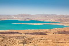 Addakhil του Al-Χασάν λιμνών σε Errachidia Μαρόκο Στοκ φωτογραφία με δικαίωμα ελεύθερης χρήσης