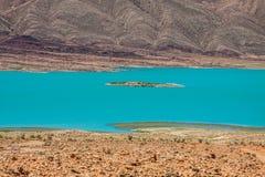 Addakhil d'Al-Hassan de lac dans Errachidia Maroc Photos libres de droits