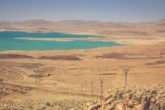 Addakhil di Al-hassan del lago in Errachidia Marocco Immagini Stock