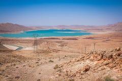 Addakhil di Al-hassan del lago in Errachidia Marocco Fotografia Stock Libera da Diritti