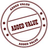 ADDED VALUE simple red stamp. Illustration graphic concept Royalty Free Stock Photo
