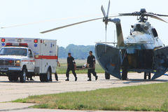 Addestramenti militari medici fotografia stock