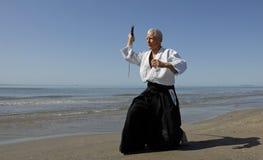 Addestramento del Aikido fotografia stock libera da diritti