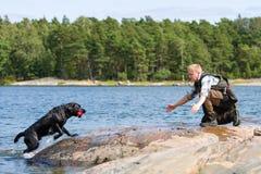 Addestramento del cane Immagine Stock Libera da Diritti