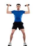 Addestramento del peso di bodybuilding di forma fisica di allenamento degli uomini Immagine Stock Libera da Diritti