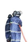 Addestramento del vigile del fuoco Fotografia Stock Libera da Diritti