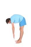 Addestramento dell'uomo di yoga Fotografie Stock Libere da Diritti