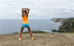 Addestramento della donna dell'atleta Immagine Stock