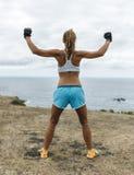 Addestramento della donna dell'atleta Immagini Stock