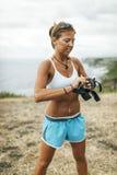 Addestramento della donna dell'atleta Fotografia Stock
