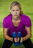 Addestramento della donna di forma fisica Fotografia Stock Libera da Diritti