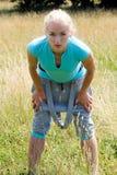 Addestramento della donna di forma fisica di sport fuori Immagine Stock Libera da Diritti