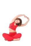 Addestramento della donna di yoga Immagini Stock Libere da Diritti