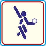 Addestramento della ginnasta di sport, icona, illustrazioni Fotografia Stock