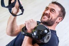 Addestramento della palestra Esercizio di forma fisica di allenamento Immagine Stock Libera da Diritti