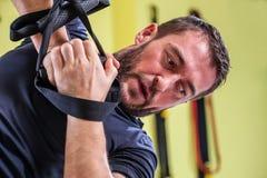Addestramento della palestra Esercizio di forma fisica di allenamento Fotografia Stock