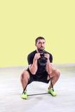 Addestramento della palestra Esercizio di forma fisica di allenamento Immagine Stock