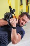 Addestramento della palestra Esercizio di forma fisica di allenamento Fotografie Stock