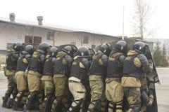 Addestramento della polizia russa Forze speciali schiaffo Fotografie Stock Libere da Diritti