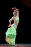 Addestramento di base di ballo di DAI--Danza popolare cinese Immagini Stock Libere da Diritti