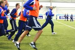 Addestramento di calcio Immagini Stock Libere da Diritti