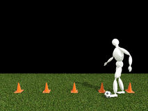 Addestramento di calcio Immagine Stock Libera da Diritti